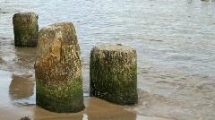 Baltic sea - wave breaker Stock Footage