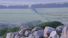 Pan from wall to Dartmoor prison Stock Footage