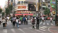 Entertainment, business and shopping area - Shinjuku, Tokyo, Japan Stock Footage