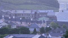 Pan to Dartmoor prison Stock Footage