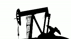 Matte of Oil Pumping Rig Stock Footage