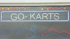 Go karts sign Stock Footage