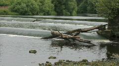 Man made rapids Stock Footage