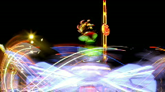 Carnival fair ground ride circus lights  Stock Footage