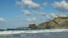 Portreath waves and clouds timelapse Stock Footage