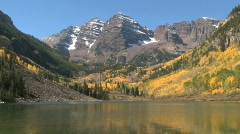Maroon Bells in Autumn in Aspen, Colorado - stock footage