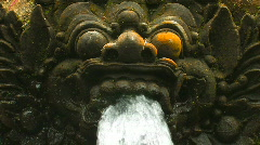 Stone temple guardian sculpture, Bali. Stock Footage