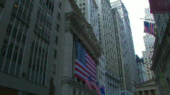 Wall Street Financial District New York Stock Footage