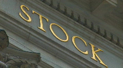 WALL STREET Stock Exchange Market Building New York City Zoom Out Finanical - stock footage