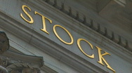 WALL STREET Stock Exchange Market Building New York City Zoom Out Finanical Stock Footage