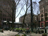 Stock Video Footage of Pioneer Square, Seattle WASHINGTON STATE Historic Park Downtown Tourist