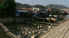 Poor Slum Housing in Vietnam Stock Footage