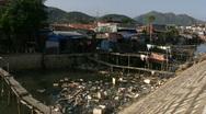 Poor Slum Housing in Vietnam Stock Footage