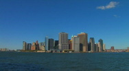 Stock Video Footage of Lower Manhattan NYC Skyline Cityscape WATERFRONT New York City Panorama