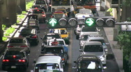 Stock Video Footage of Traffic Jam Bangkok Thailand