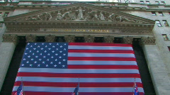 Wall Street Stock Market Financial District New York Manhattan Finance NYC Stock Footage