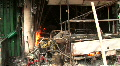 Burnt Out Storefront After Bomb Blast Terror Attack Bombing Blast  Footage