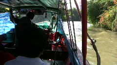 Canal Boat Klong Public Riverboat Taxi Tourist Attraction Asia Travel Bangkok Stock Footage