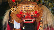 Stock Video Footage of DEMON DEVIL Baron Dancer Mask Man Balinese  Dance Performance Ubud, Bali