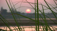 Sunset on the Mekong River Stock Footage