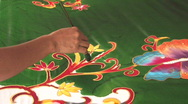 Stock Video Footage of MAKING BATIK Cloth Handicraft Textile Fabric, Bali