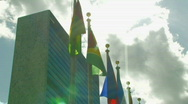 Stock Video Footage of UNITED NATIONS BUILDING UN Security Council New York City