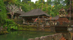Pura Tirta Empul Temple, Ancient Hindu Bali Indonesia Holy Water Stock Footage