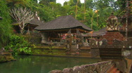 Stock Video Footage of Pura Tirta Empul Temple, Bali.
