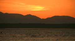 Sunset in Puget Sound Cascade Mountains Pacific Northwest Washington - stock footage