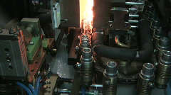 Plastic Bottle Blow Mold Production Factory Industry Injection Automation Line - stock footage
