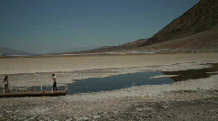 Badwater in Death Valley Stock Footage