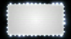 Blank Marquee Background Stock Footage