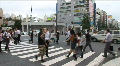 Tokyo, Japan. Akihabara. Electronic district. People crossing. HD Footage