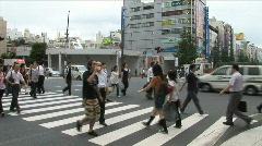 Tokyo, Japan. Akihabara. Electronic district. People crossing. Stock Footage