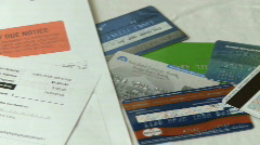 Debts piling up (2 of 2) Stock Footage