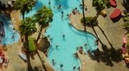 Vegas Pool People - Time Lapse Stock Footage