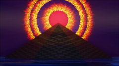 Pyramid with RA - Nibiru on Fire Planet X Stock Footage
