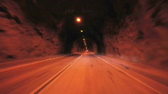 Driving though a tunnel - Time Lapse - Take 1 - stock footage