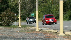 Vehicles going into Fairborn - stock footage