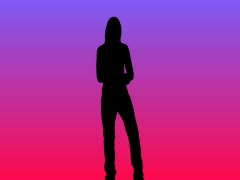 Dancer silhouette redmauve Stock Footage