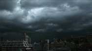 Tokyo - Dark Day 5 - rainy clouds and lightning. Japan. Stock Footage