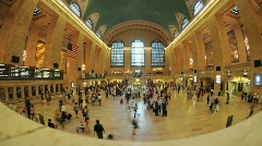 Grand Central Station Time Lapse Clip 2 - stock footage