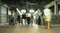 Crowd Exiting NYC Subway - Time Lapse - stock footage