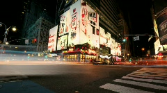 NYC Times Square Time Lapse - Clip 2 Stock Footage