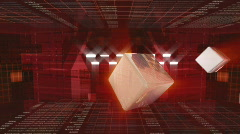 3-D News opening in red. Stock Footage