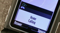 Mobile Phone Missed Call - stock footage