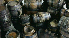 Wooden Casks Stock Footage