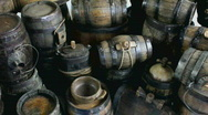 Stock Video Footage of Wooden Casks