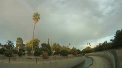 LA river rainbow Stock Footage