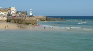 St Ives harbour pier timelapse Stock Footage